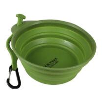Összecsukható kutya tál - 500ml, zöld