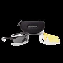 ESS Crossbow 3LS védőszemüveg - fekete átlátszó/füstszürke/sárga