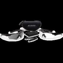 ESS Crossbow 2LS védőszemüveg - fekete átlátszó/füstszürke