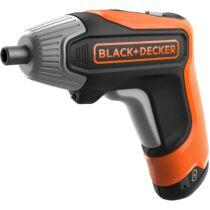 Black + Decker BCF611CK-QW 3,6V/1,5 Ah Li-ion marokcsavarozó gyorstöltővel és praktikus tárolódobozzal