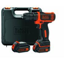 Black + Decker BDCDD12KB-QW 10,8V Li-Ion fúró-csavarozó kofferben 1A töltő + Pótakkumulátor