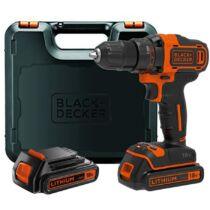 Black + Decker BDCDD186KB-QW 18V Li-Ion fúrócsavarozó kofferban + pótakkumulátor