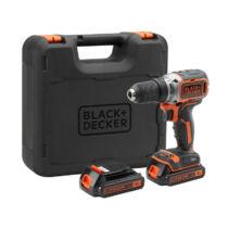 Black + Decker BL186KB-QW 18V Li-Ion kefe nélküli fúró-csavarozó pótakkuval kofferben