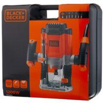 Black + Decker KW1200EKA-QS Felsőmaró 1200W, 55mm felsőmaró tartozékokkal kofferben