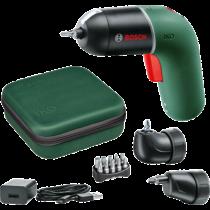 Bosch IXO 6 Classic akkus csavarhúzó sarokadapterrel és excenteradapterrel