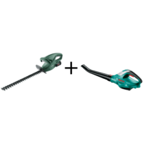 Bosch EasyHedgeCut 18-45 sövényvágó + ALB 18 BT lombfúvó szett, akkuval