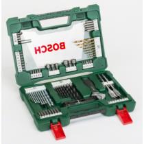 Bosch 83 részes V-Line TiN fúró- és bitkészlet LED-es zseblámpával és állítható villáskulccsal
