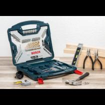 Bosch 103 részes Bosch X-Line Titanium készlet fához, falazathoz és fémhez