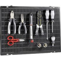 Toolcraft Perforált, lyukasztott szerszámtároló fal, univerzális felhasználásra, 508 x 390 x 15 mm