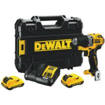 DeWalt DCD701D2-QW 12V XR Fúró-csavarozó pótakkuval kofferben