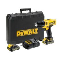DeWalt DCD710C2-QW 10,8V XR Li-Ion fúró-csavarozó pótakkuval kofferben