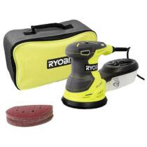 Ryobi ROS300A 300W, 125mm Rezgőcsiszoló 20db csiszolópapírral szerszámtáskában