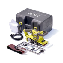 Ryobi EBS800V 800W Szalagcsiszoló tartozékokkal szerszámtáskában