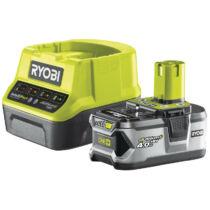 Ryobi RC18120-140 18V, 4.0Ah Lithium+ akku és kompakt töltő