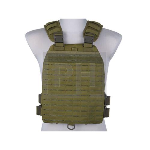 Plate Carrier taktikai mellény/lézer vágott - olive drab