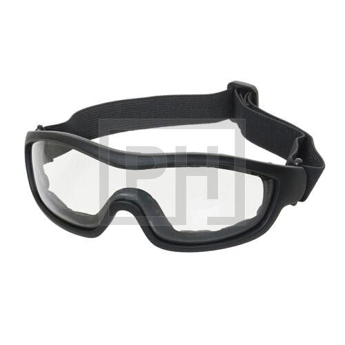 FA02 Ugró szemüveg - fekete/víztiszta
