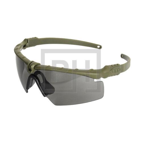 Modern taktikai szemüveg - olive/sötét