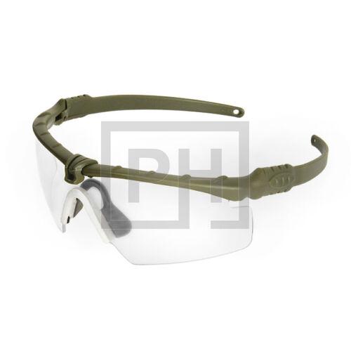 Modern taktikai szemüveg - olive/víztiszta