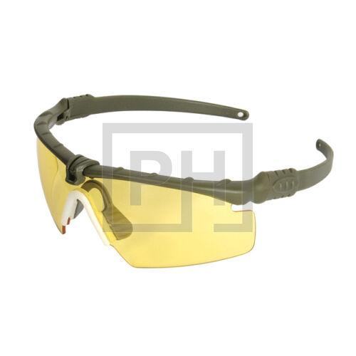 Modern taktikai szemüveg - olive/sárga