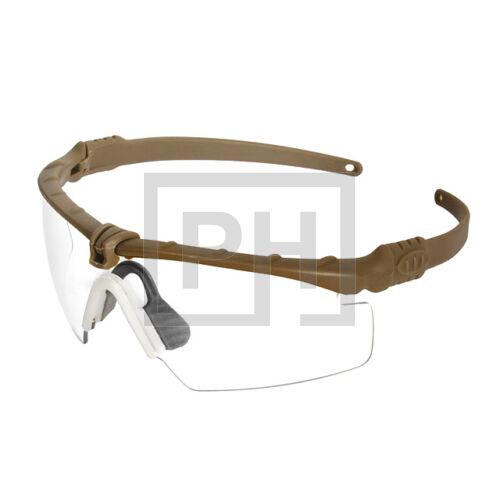 Modern taktikai szemüveg - tan/víztiszta