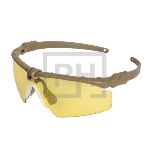 Modern taktikai szemüveg - tan/sárga