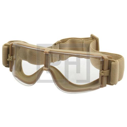 X800 Taktikai védőszemüveg - tan/víztiszta
