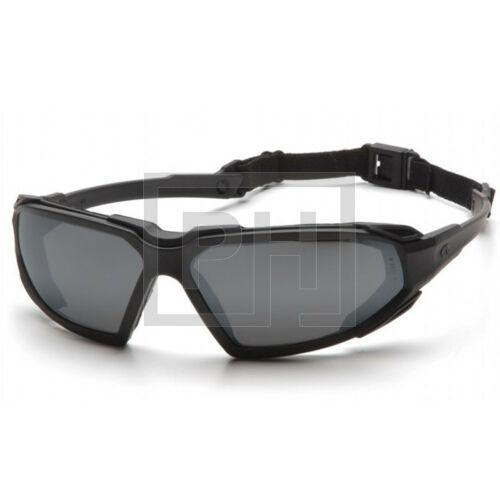 Pyramex Highlander szemüveg - fekete/füstszürke
