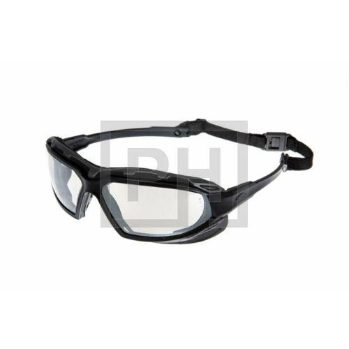 Pyramex Highlander Plus szemüveg - fekete/víztiszta