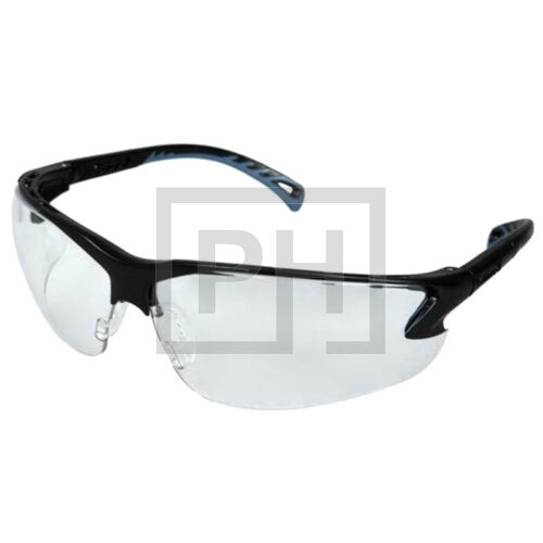 Pyramex Venture Clear szemüveg - párásodásgátló réteggel, fekete/víztiszta