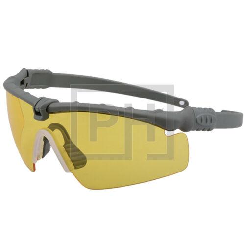 Modern taktikai szemüveg - szürke/sárga