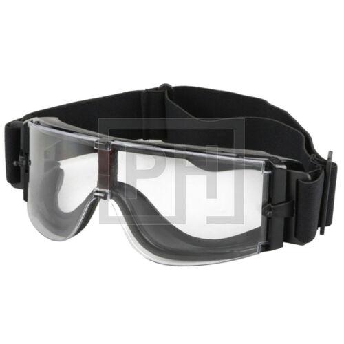 X800 Taktikai védőszemüveg - fekete/víztiszta