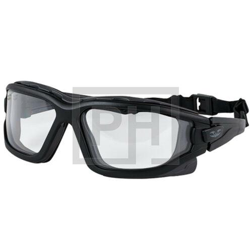 Valken Zulu védőszemüveg - fekete/víztiszta