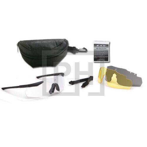 ESS ICE-3LS Naro védőszemüveg - fekete átlátszó/füstszürke/sárga