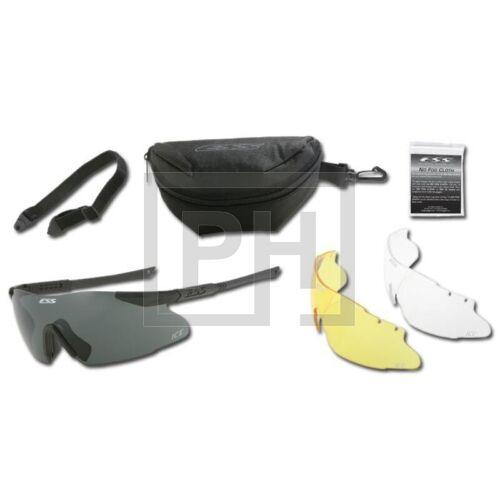 ESS ICE-3LS védőszemüveg - fekete átlátszó/füstszürke/sárga