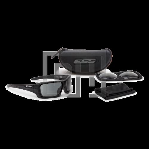 ESS RollBar védőszemüveg - fekete átlátszó/füstszürke