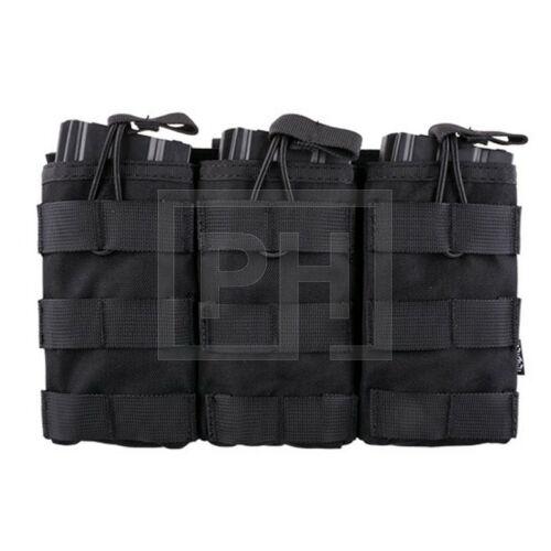 Tripla AK/M4/G36 tárzseb - Fekete