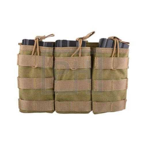 Tripla AK/M4/G36 tárzseb - Tan