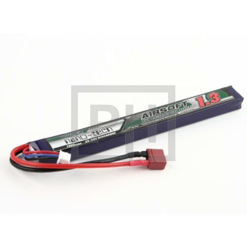 Turnigy nano-tech 1300mAh 2S 25-50C Lipo Airsoft Akku (T-connector)