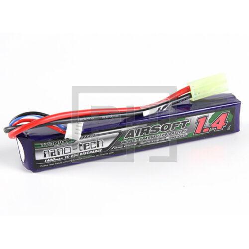 Turnigy nano-tech 1400mAh 3S 15-25C Lipo Airsoft Akku