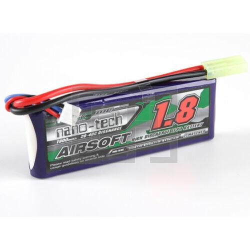 Turnigy nano-tech 1800mAh 2S 25-50C Lipo Airsoft Akku
