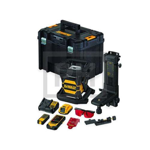 DeWalt DCE080D1RS-QW 18V XR Toolconnect piros forgólézer kofferben