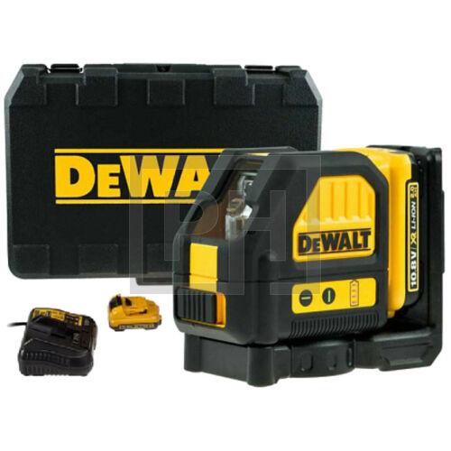 DeWalt DCE088D1R-QW Piros keresztsugaras vonallézer kofferben